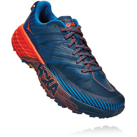 Hoka One One Speedgoat 4 Schoenen Heren, majolica blue/mandarin red